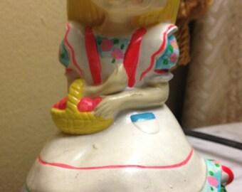 Just Bernard For Siber Hegner Neon Blonde Girl Figurine NY Japan Vintage 70's
