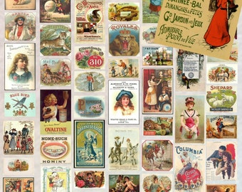 50 Vintage Ads 1 - Digital Scrapbooking Clipart Graphics Vintage Ads