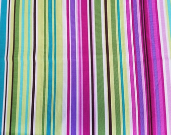 BUNGALOW STRIPE Kiwi, Michael Miller, 100% Cotton Quilting Fabric Apparel, Fabric by the Yard
