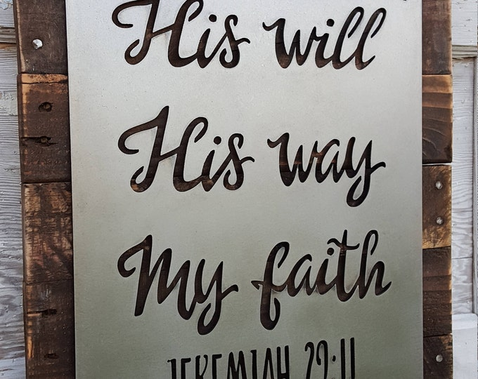 Christian quote sign, Rustic Sign, Faith Decor, Farmhouse Decor, Rustic Home Decor, Spiritual quotes, Scripture Signs, Jeremiah Bible verse