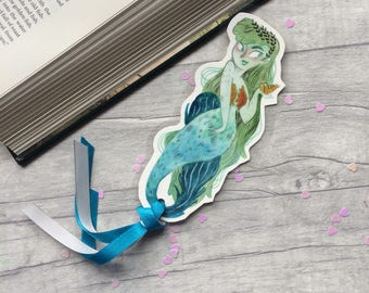Mermaid bookmark, gift for book lover, bookworm gift, mermaids, bookmark, gift for teen, mermaid gift, mythical creatures, siren