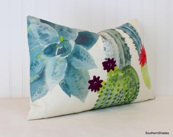 Ready to Ship - Pair 13x19 Pierre Frey Cuilko Amazone Pillows with feather/down inserts
