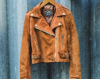 Suede Fringe Festival Jacket | 80's Style | Tobacco Brown (Can Be Ordered Without Fringe)
