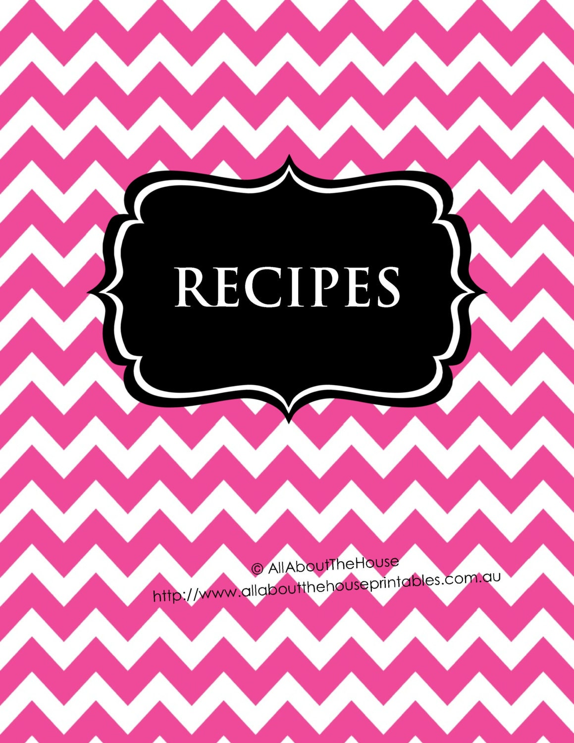 EDITABLE Recipe Binder Printables Sheet Card