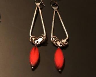 Red Umbrella Earrings