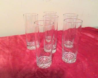 CLEARANCE  Glasses  Beverage Crystal Vintage 6  #353