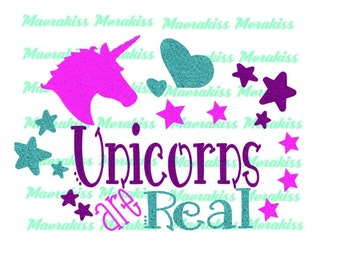 Unicorns are real png,svg,pdf,eps file