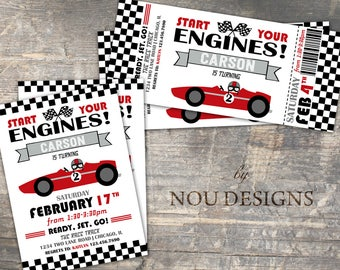 Nascar invitations etsy race car nascar birthday invitation card printable file filmwisefo Choice Image