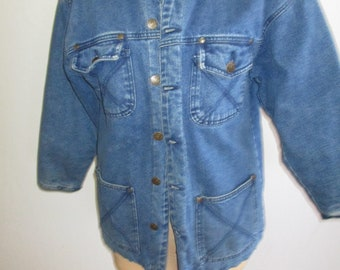 Vtg French Toast Denim Jacket Cordurot Lined