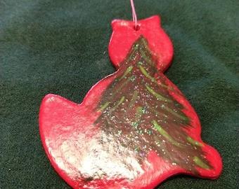 Evergreen Kitty Ornament