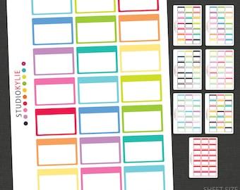 "Half Box Planner Stickers -  Suits  Erin Condren Vertical Planners & other 1.5"" wide planners -  Repositionable Matte Vinyl"