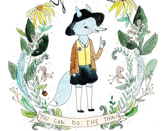 You Got This. Wolf Girl art print.