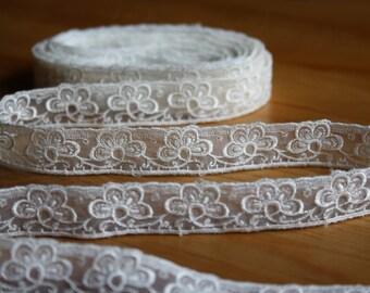 Vintage White Lace Edge Trim
