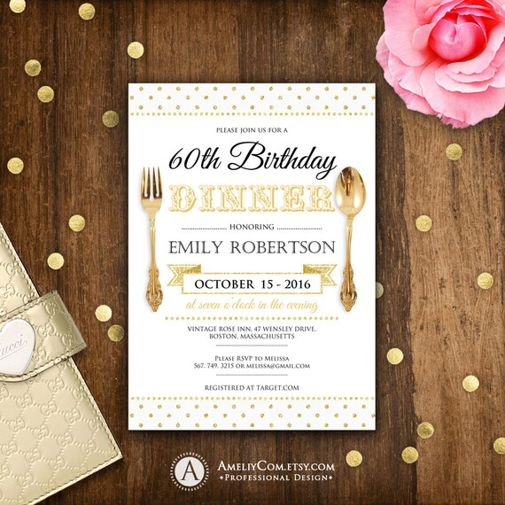 Birthday Dinner Invite Printable Birthday Dinner Invitations