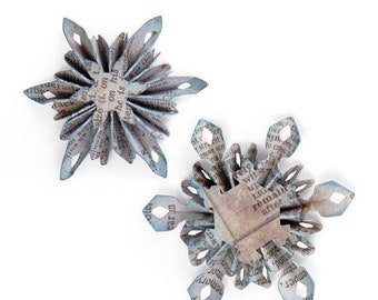 Mothers Day Special: Sizzix Sizzlits Decorative Strip Die - Mini Snowflake Rosettes (2 Sizes)  658255