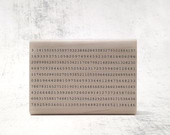 The Digits of Pi Stamp - Teacher's Math Stamp - Mathematics and Numbers Rubber Stamp