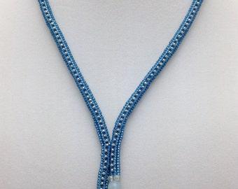 Montana Blue Herringbone Necklace