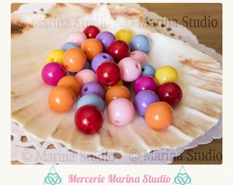 10 pearls 12mm mixed color candy
