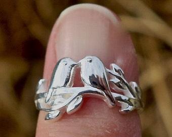 SALE Cute Vintage 925 Sterling Silver Bird Ring