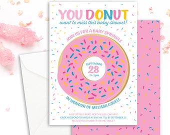 Donut Baby Shower Invitation Printable Baby Shower Invite Personalized Baby Sprinkle Invite Donut Party Donut Invitation Digital Download