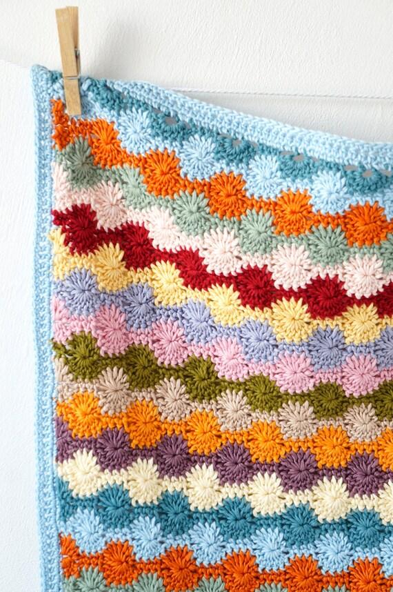 Blanket Pattern Crochet Tutorial Baby Gift Bright Car Seat Throw