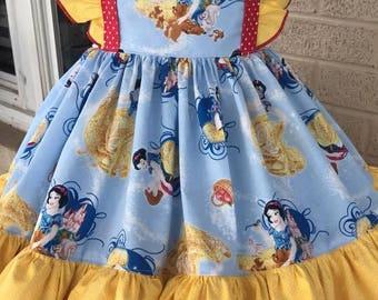 Custom Snow White theme twirl dress