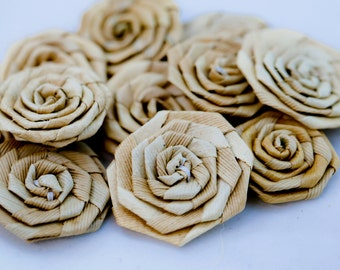 small Lauhala roses 1 inch