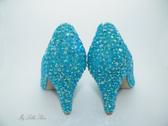 Wedding Graduation Bride blue low heels Turquoise Something ~ ~ of Bridesmaid Maid Bridal the mid Blue Mother Shoes of Prom honor Z7q6SS