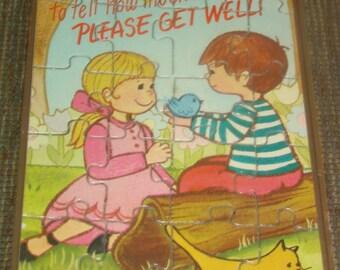 Un-used Vintage Novelty Puzzle Postcard