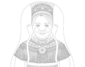 Sami Matryoshka Coloring Sheet Printable file