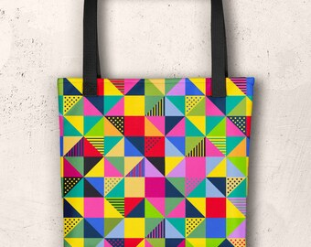 Abstract Squares, Tote bag
