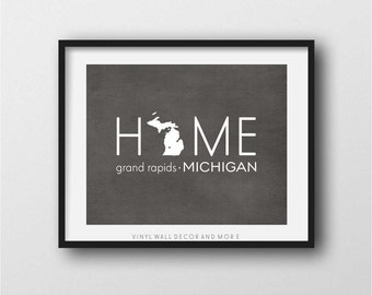 Grand Rapids Michigan print- digital