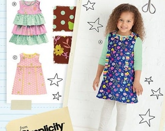Summer Ruffles Dress, Easy Sewing Pattern, Summer Wear, Child SunDress, Playtime Design, Fashion Outfit, Fall Lace Skirt, Girl School Jumper