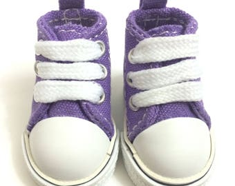 5CM Canvas Shoes For BJD Doll,Mini Textile Doll Boots 1/6 Denim Sneakers for Dolls 5CM,Fashion Doll Shoes for Fabric Doll