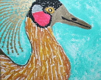 Duck with Fancy Feather Spray