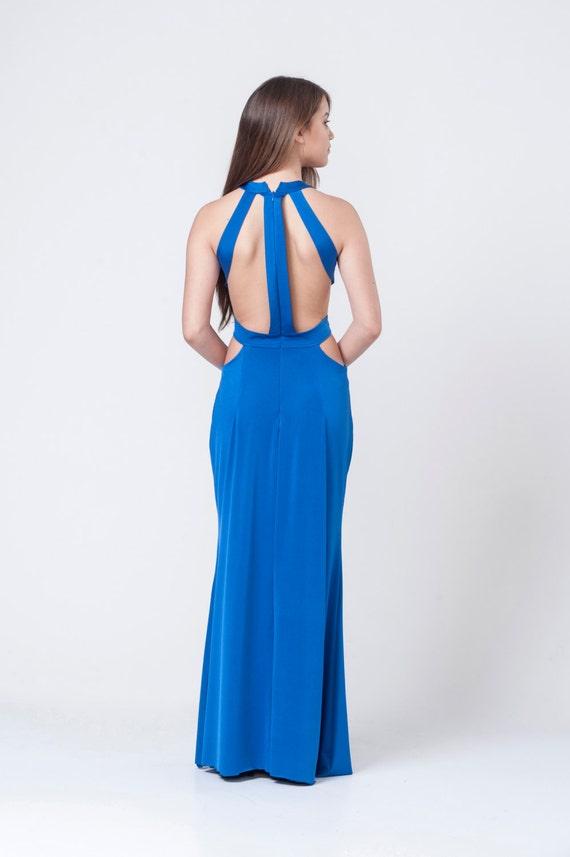 Royal blau Abendkleid Kleid Brautjungfernkleid elegantes