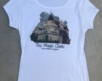 The Magic Castle Hollywood Vintage White Baby Tee Tshirt