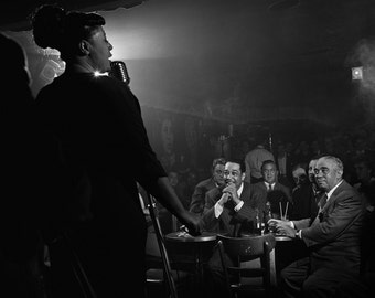 Ella Fitzgerald, Duke Ellington & Benny Goodman, NYC, 1948 - Vintage - Photo - Photography - Jazz - Club - Print - New York City - Art
