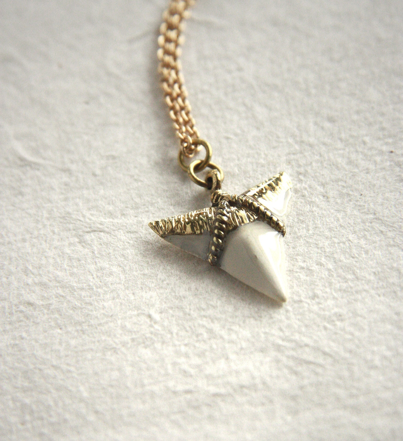 metallic tooth jewelry silver gallery product lyst shark gold pendant givenchy in necklace normal