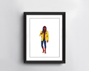 Spiderman Art Print | Hand Drawn Illustration