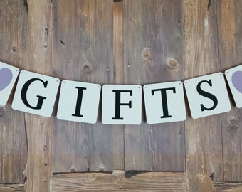 Gifts Sign, Gifts Banner, Gifts Wedding Sign, Gifts Wedding Banner, Bakers Twine