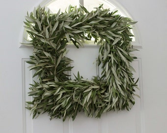 """Olive Branch Wreath - 18 """" Squared Easter"""