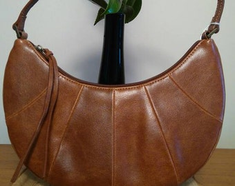 1970's Boho crescent shaped bag