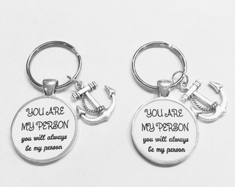 Best Friend Gift, You Are My Person Keychain, You're My Person, Best Friend Keychain, Bff Best Friends Sisters Mother Daughter Keychain Set