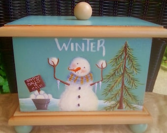 Recipe Box tole painting pattern For All Seasons
