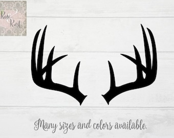 Deer Antlers Decal, Antlers Decal, Antlers Silhouette, Gifts for Hunters, Antlers Decor, Hunter Decor, Hunter Decal, Antler Vinyl Decal