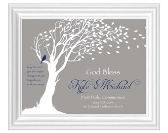 First Holy Communion Gift - Personalized Gift for First Holy Communion -Custom Communion Keepsake Print - Can be done in other colors