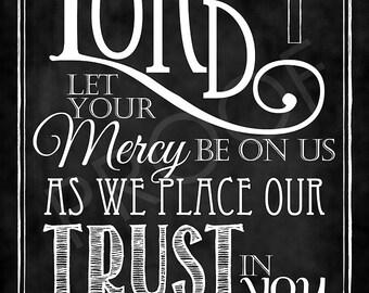 Scripture Art - Psalm 33:22 Chalkboard Style