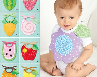 OUT of PRINT Simplicity Pattern 2273 Baby Bibs