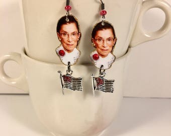 Ruth Bader Ginsburg earrings Supreme Court Justice Notorious RBG